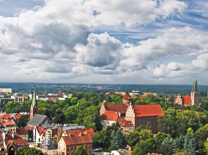 Olsztyn. Panorama miasta