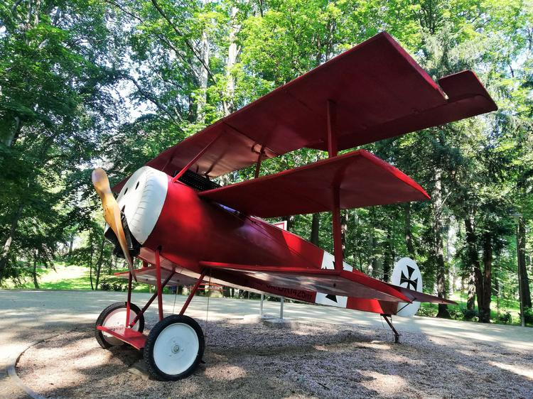 Samolot Czerwonego Barona w parku Sikorskiego