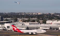 Samolot lini lotniczych Qantas. Zdjęcie ilustracyjne