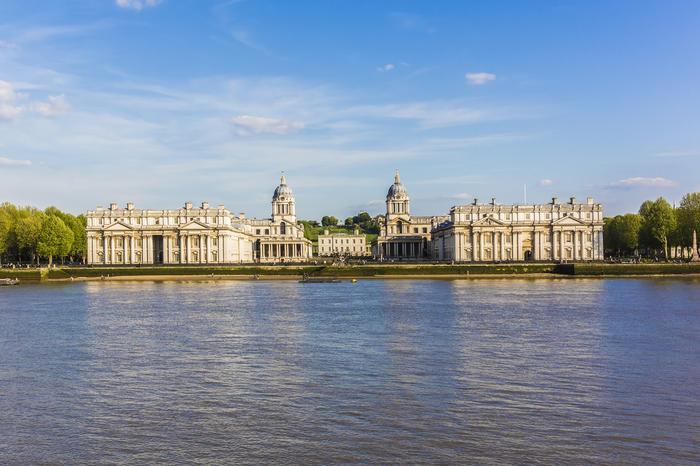 Greenwich Naval College i Moor Park - fasada Pałacu Buckingham