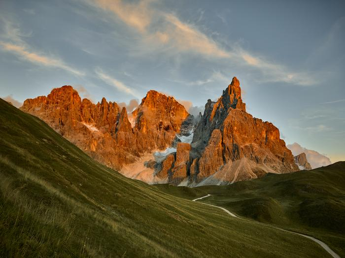 Pale di San Martino, są jednym z najpiękniejszych łańcuchów górskich Dolomitów