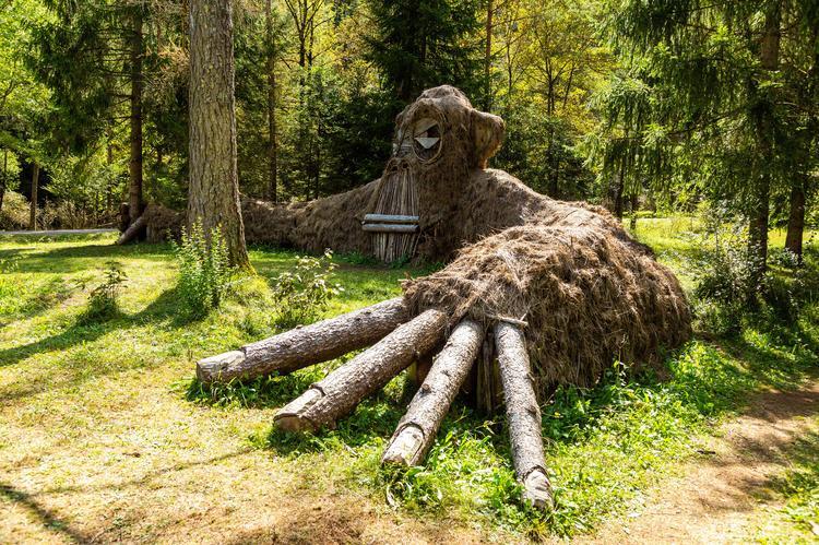 Ledro Land Art  - ścieżka artystyczna która prowadzi z sosnowego lasu Pur wzdłuż rzeki Assat do schroniska Malga Cita