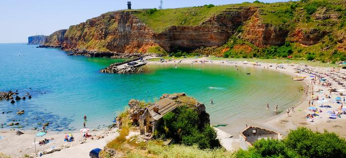 Bułgaria. Plaża Bolata, Kawarna