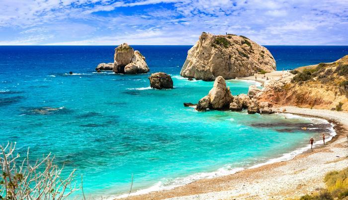 Cypru - Petra tou Romiou, znany jako miejsce narodzin Afrodyty