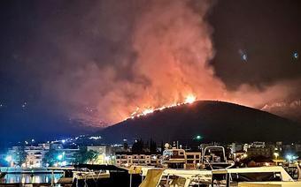 Pożary w Chorwacji. Trogir walczy z ogniem