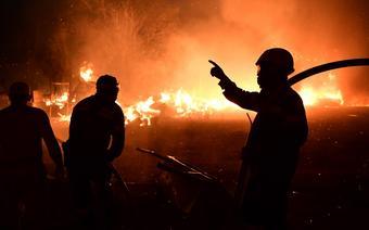 Pożary w Grecji. Ogień w pobliżu miejsca narodzin igrzysk